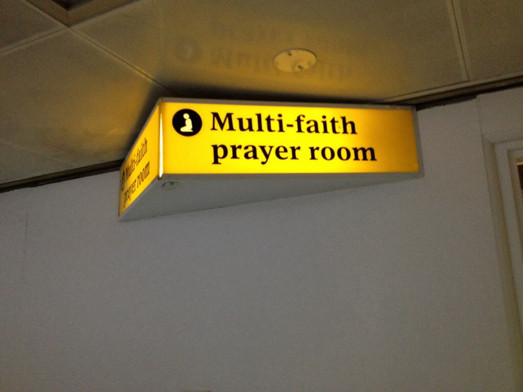 Multi Faith Prayer room at Heathrow